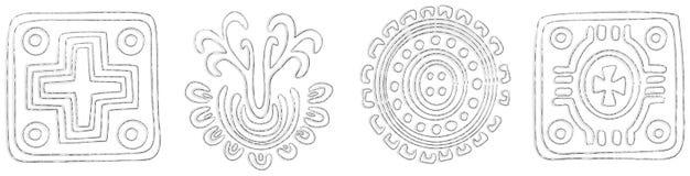 le fond a conçu tribal illustration stock