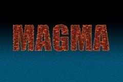 Le fond décoratif de noir bleu de texton de magma illustration de vecteur
