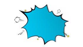 Le fond d'éclaboussure d'art de bruit, explosion en bandes dessinées réservent le style, le calibre vide de disposition avec les  Illustration Stock