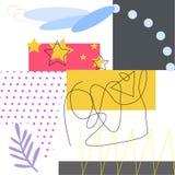 Le fond d'art de Colorfull avec les éléments géométriques dirigent l'illustration illustration libre de droits