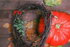 Le fond d'automne de potirons Photo stock