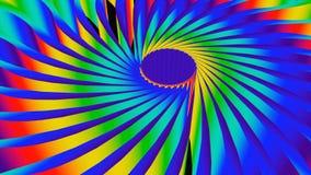 le fond 3d coloré avec la forme ronde, les couleurs lumineuses d'arc-en-ciel, 3d rendent le contexte généré par ordinateur illustration de vecteur