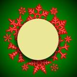 Le fond d'hiver avec le cadre de papier rond et l'ombre pour la nouvelle année et le Noël conçoivent Photo stock