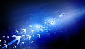 le fond d'image des flèches 3d a rendu Images libres de droits