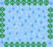 Le fond d'an neuf avec des flocons de neige Image stock