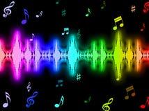 Le fond d'onde sonore signifie le graphique d'énergie Photos libres de droits