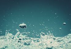 le fond 3d rendent éclabousse l'eau blanche Photos libres de droits