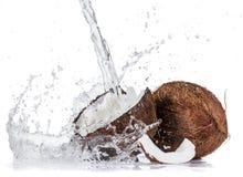 le fond 3d rendent éclabousse l'eau blanche Images libres de droits