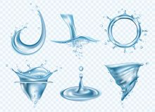 le fond 3d rendent ?clabousse l'eau blanche Calibre réaliste de lavage d'images de temps de baisses de vecteur pluvieux liquide e illustration libre de droits