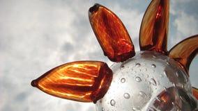 Le fond d'une fleur en verre Photo stock