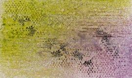 Le fond dans la technique de scrapbooking dans la couleur multi modifie la tonalité Image libre de droits