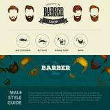 Le fond de Barber Shop ou de coiffeur a placé avec des ciseaux de coiffure Image stock