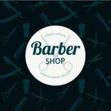Le fond de Barber Shop ou de coiffeur a placé avec des ciseaux de coiffure Photo stock