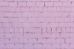 le fond de brique, mur de briques est peint dans la couleur rose photographie stock libre de droits