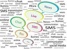 Communication en ligne Images libres de droits