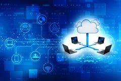 Le fond de concept de Cloud Computing, 3d rendent illustration stock