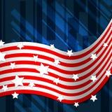 Le fond de drapeau américain montre Pride And Identity national Images libres de droits
