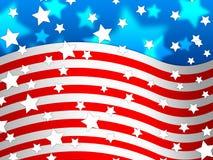 Le fond de drapeau d'Amercican signifie le pays Pride And America Photos libres de droits