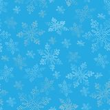Le fond de flocons de neige pendant la nouvelle année et le Noël conçoivent Photo stock