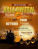 Le fond de Halloween avec les potirons effrayants et le Dracula se retranchent illustration libre de droits