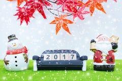 Le fond de Joyeux Noël et numéro 2017 t Photo stock