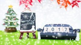 Le fond de Joyeux Noël et numéro 2017 t Photo libre de droits