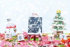 Le fond de Joyeux Noël et numéro 2017 t Image libre de droits
