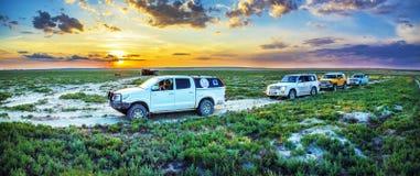 Le fond de l'ancienne mer d'Aral Image libre de droits