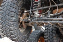 Le fond de la jeep se tenant sur la pierre Photos libres de droits