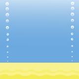 Le fond de la mer avec des bulles d'air Image libre de droits