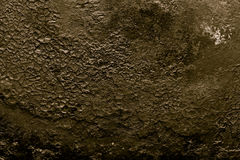 Le fond de la vieille poêle de fonte toned Image stock