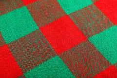 Le fond de laine, se ferment, vert et rouge Images stock