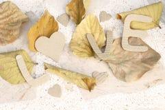 Le fond de mot de la valentine de papier d'amour Photos stock