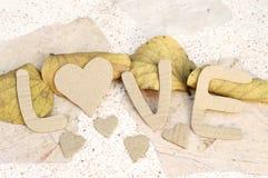 Le fond de mot de la valentine de papier d'amour Photographie stock