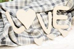 Le fond de mot de la valentine de papier d'amour Images libres de droits