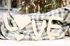 Le fond de mot de la valentine de papier d'amour Photo stock