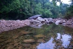 Le fond de rivière avec une piscine photos stock