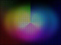 Le fond de roue de couleur signifie des tonalités de couleurs et chromatique Images stock