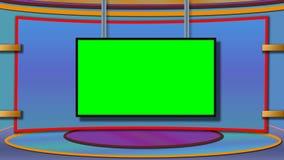 Le fond de studio d'actualités de TV avec greenscreen photo libre de droits