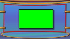 Le fond de studio d'actualités de TV avec greenscreen photographie stock libre de droits