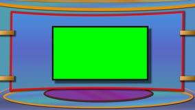 Le fond de studio d'actualités de TV avec greenscreen photo stock