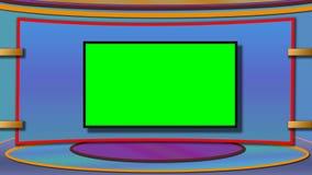 Le fond de studio d'actualités de TV avec greenscreen image libre de droits