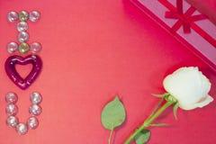 Le fond de StValentine rouge Photographie stock