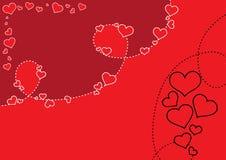 Le fond de Valentine Images libres de droits