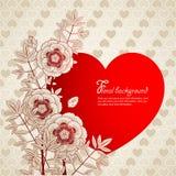 Le fond de Valentine Photos stock