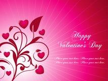 Le fond de Valentine Photos libres de droits