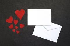 Le fond de Valentine avec la carte Image libre de droits