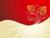 Le fond de Valentine avec le coeur Image stock