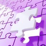 Le fond denteux de puzzle avec d'une seule pièce restent à l'extérieur Photographie stock libre de droits