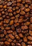 Le fond des dattes sèches portent des fruits, au marché d'air ouvert Photo stock